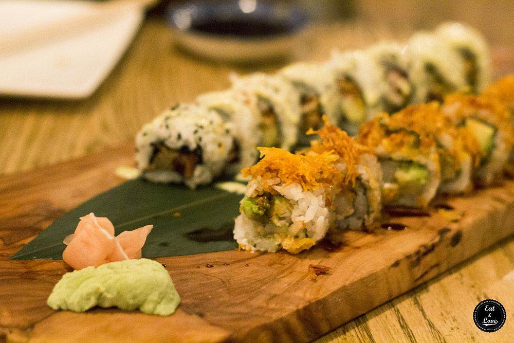 Spicy Maki Roll y California Especial - Sushita Cafe restaurante sushi Madrid