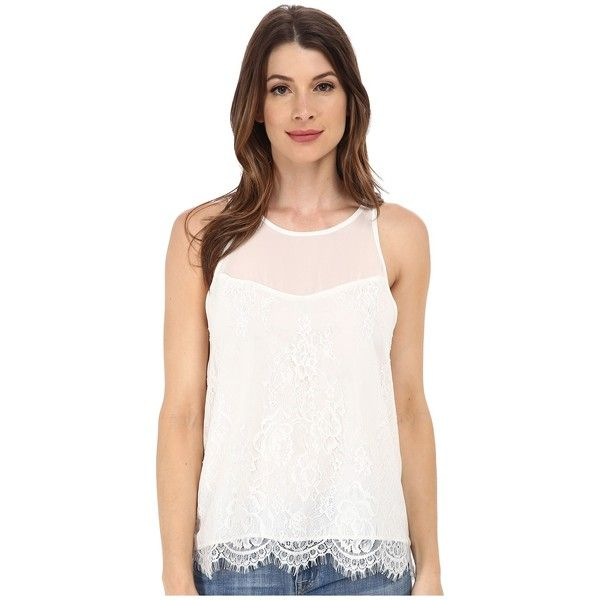 Sam Edelman Lace Zip Back Top Women's Blouse ($99) ❤ liked on Polyvore