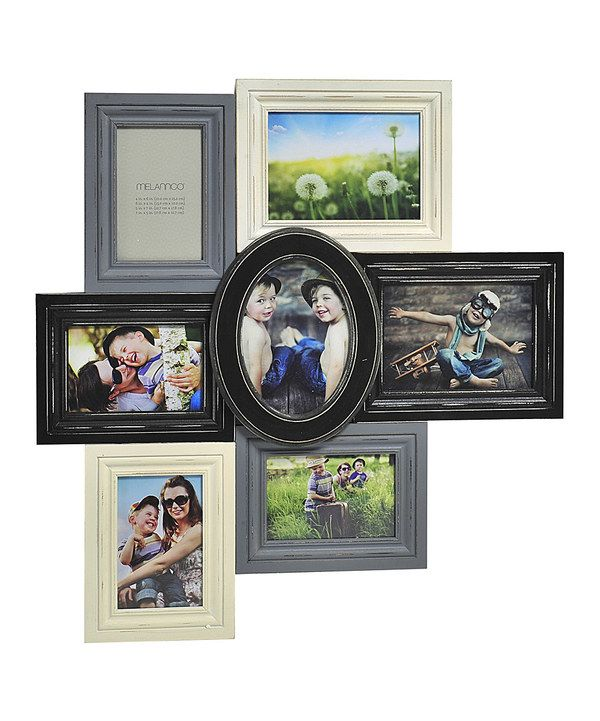 Look at this Black & Gray Distressed Wood Collage Frame on #zulily today!