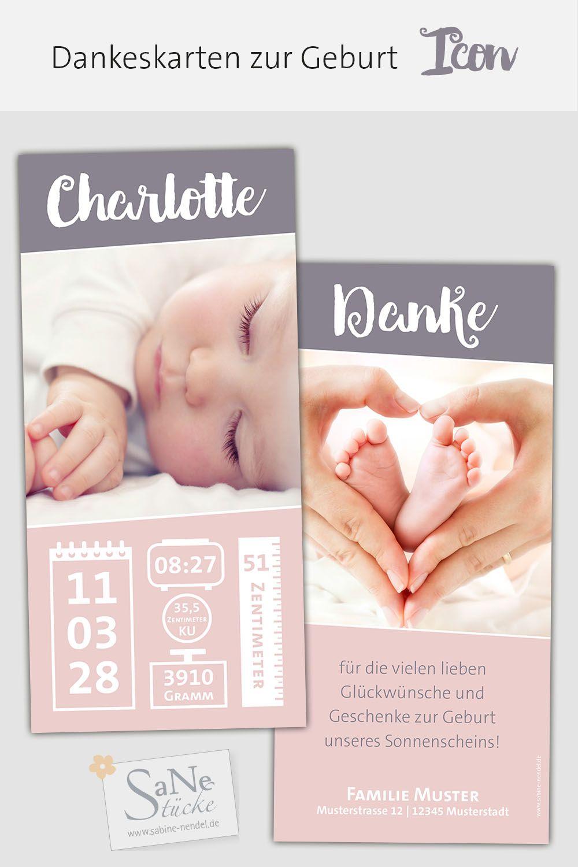 Babykarte Geburtsdaten Geburt Babykarten Geburtskarten