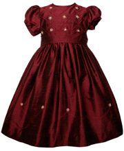 Holiday girls Silk dress for Christmas