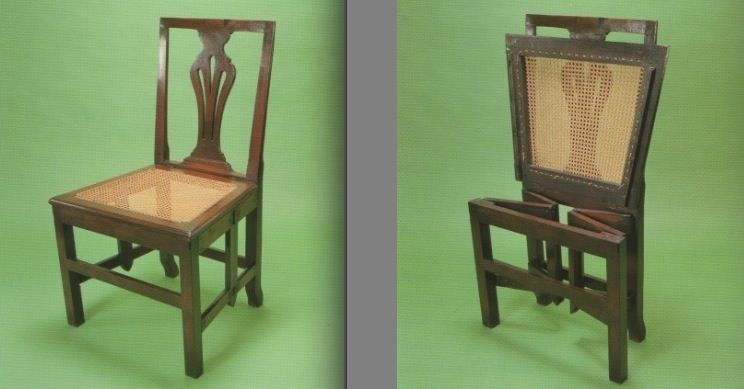 Campaign Chair George Iii Caned Mahogany Folding Chair