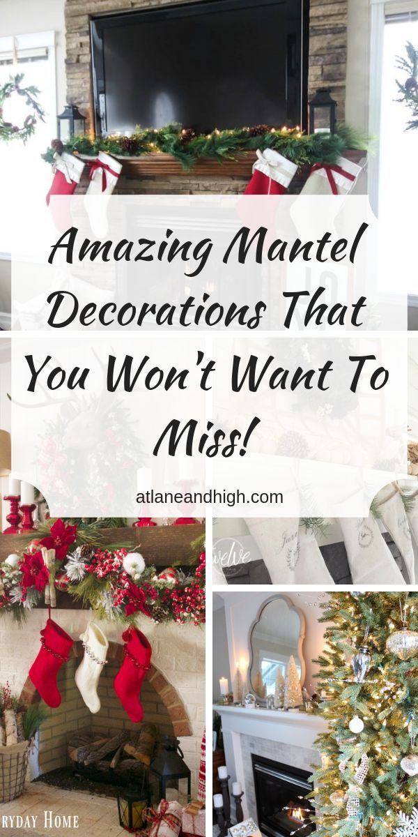 17 Amazing Mantel Decorations for Christmas You Don\u0027t Want to Miss