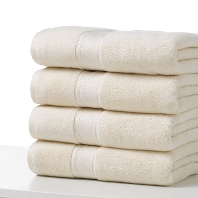 Highland Dunes Chesley 100 Cotton Bath Towel Colour Ecru Bath