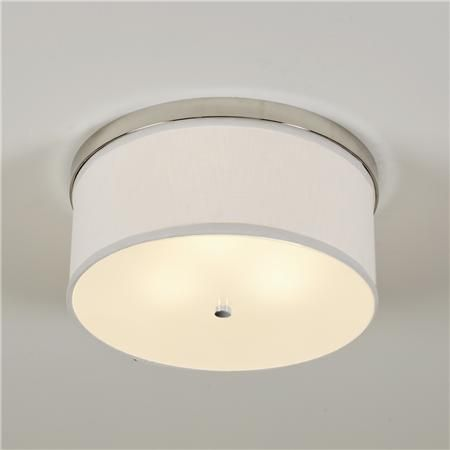 Springfield Linen Shade Ceiling Light - Springfield Linen Shade Ceiling Light Flush Mount Lighting And