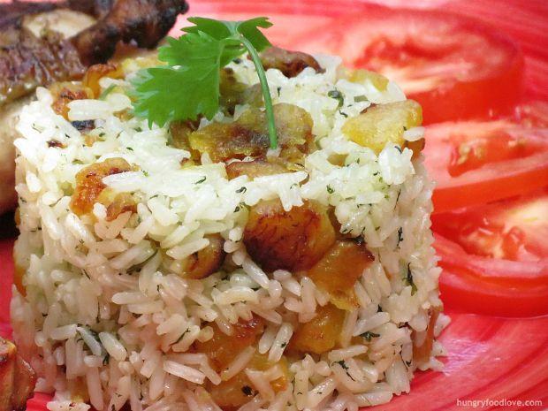 Sweet Plantains and Cilantro Rice - Cilantro, Plantains, Rice