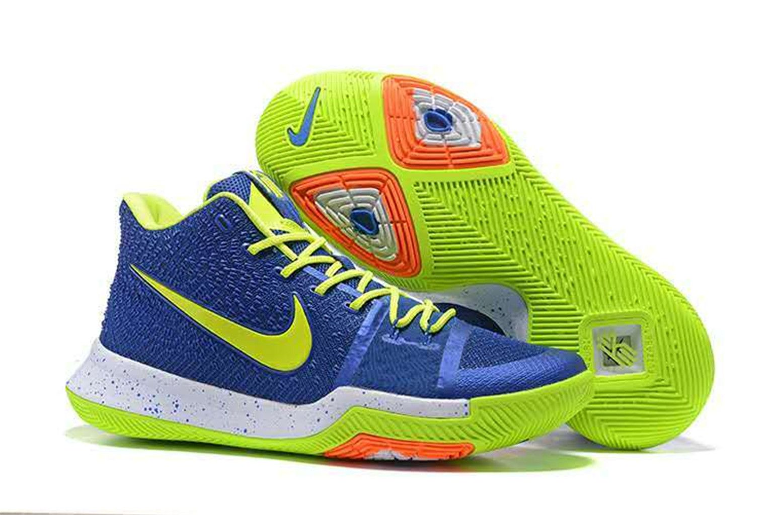 3ba45517671a Kyrie Irving 3 Basketball Shoes Fluorescent-green Blue on www.kyrie3sale.com