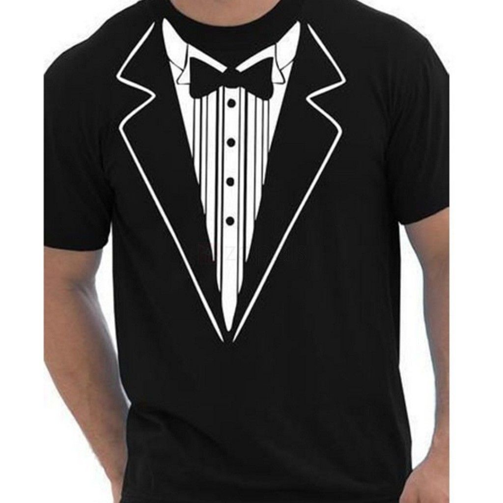Funny Tuxedo T Shirt 3d Print Novelty Tee Mens Clothing