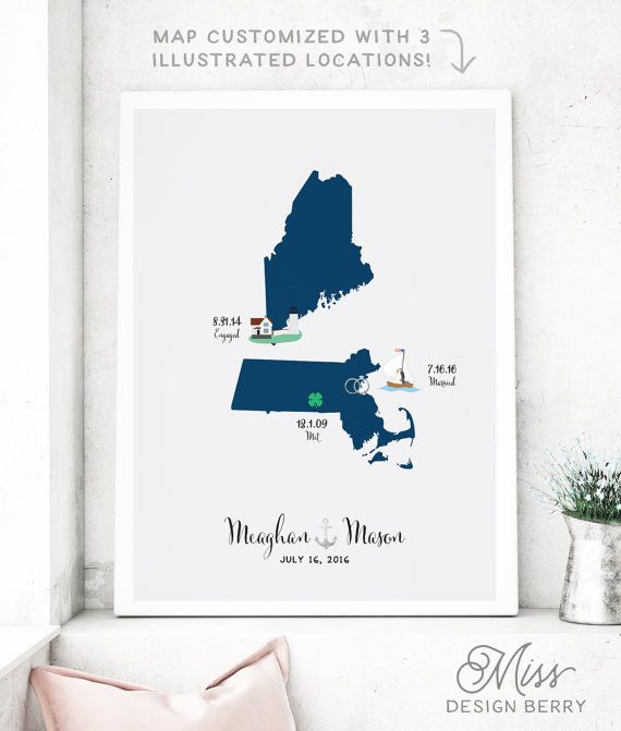 Wedding illustrated map guest book alternative custom map for guestbook gumiabroncs Image collections