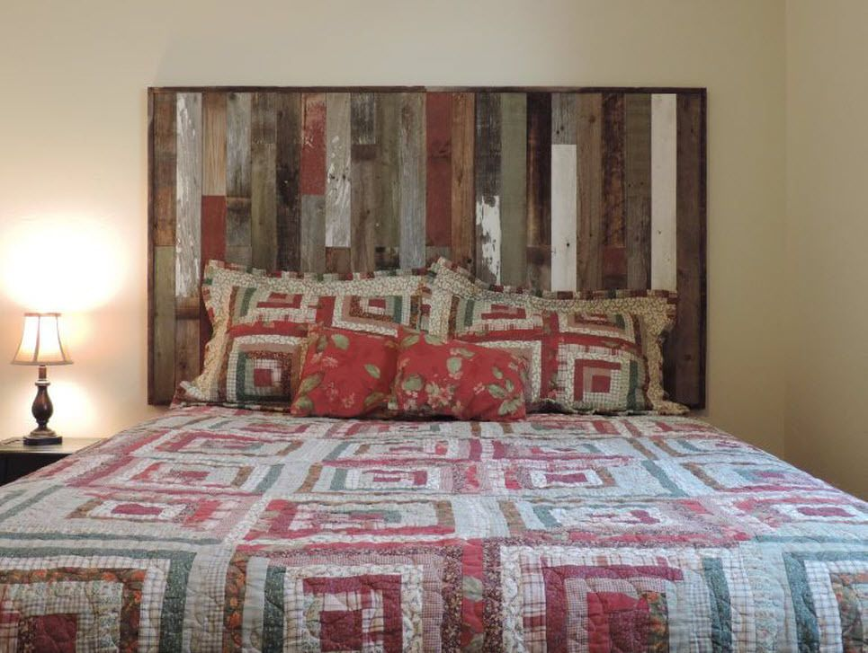 hot sale online 40753 df4a2 Details about Twin Size Bed Reclaimed Barn Wood Headboard ...