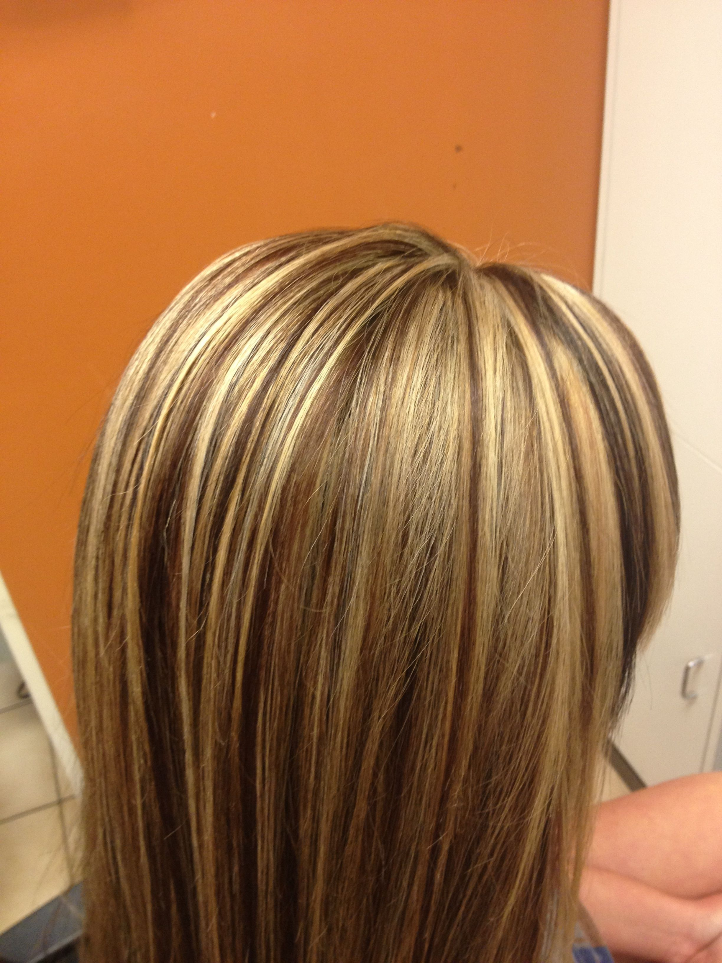 Long hair slices of highlights and lowlights HAIR by Meg
