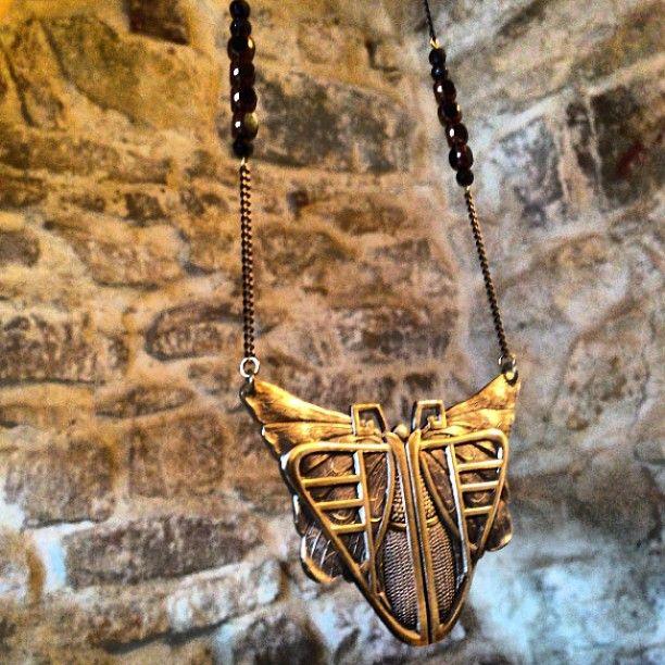 Lovely art deco butterfly long necklace...Find it in my etsy shop at : www.etsy.com/shop/SOPHIEetRENEE