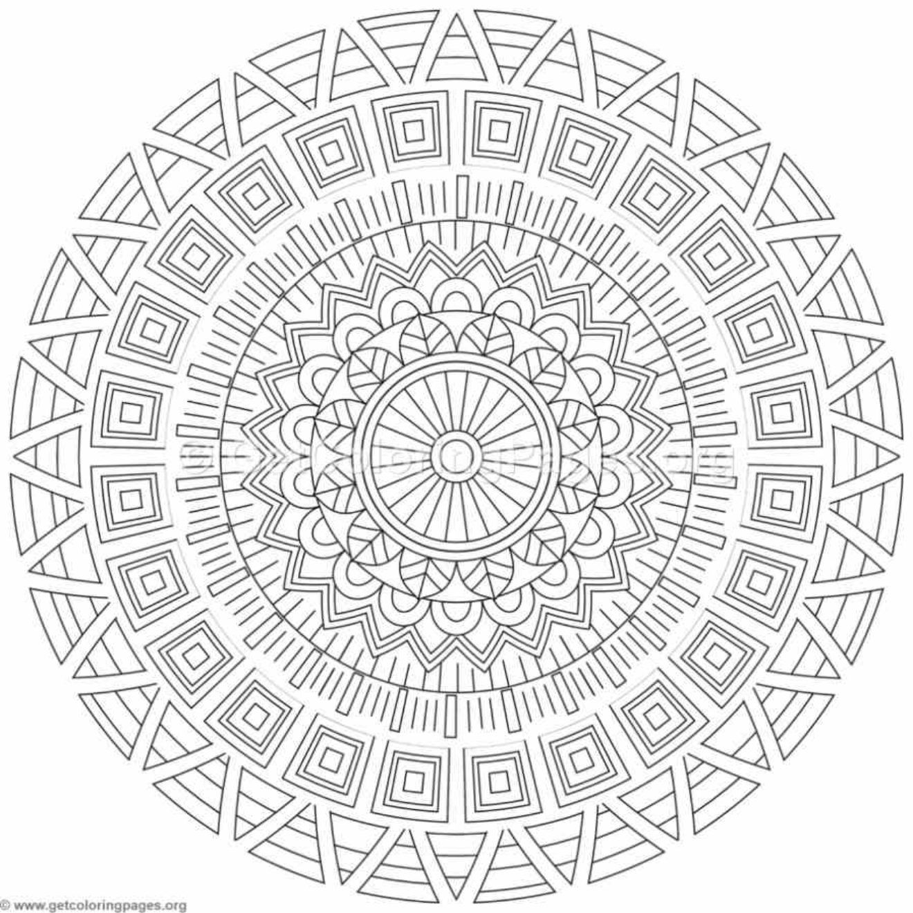Tribal Mandala Coloring Pages #132   To Color - Mandalas   Pinterest ...