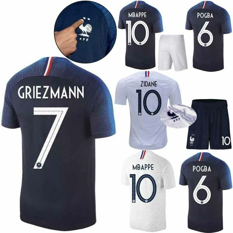 Maillot de Football Enfant FRANCE 2019 Kit Short Deux étoiles