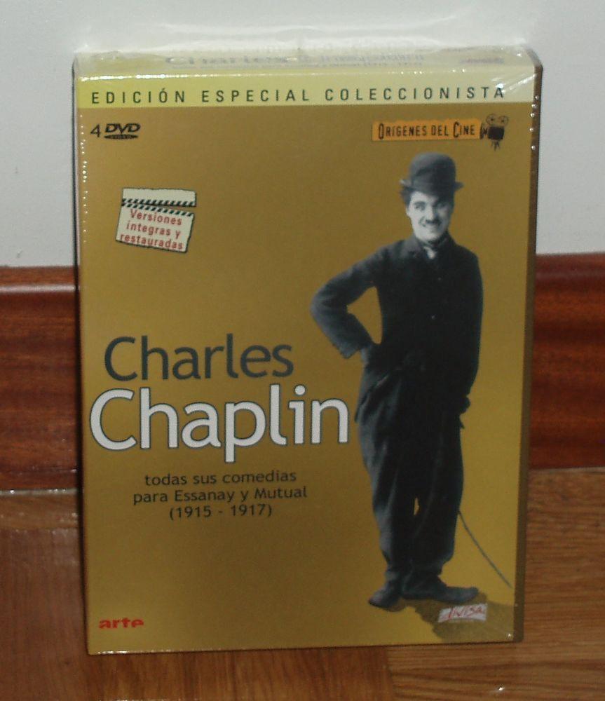CHARLES CHAPLIN - ORIGENES DEL CINE - PACK 4 DVD 1915 - 1917 - NUEVO-RESTAURADAS