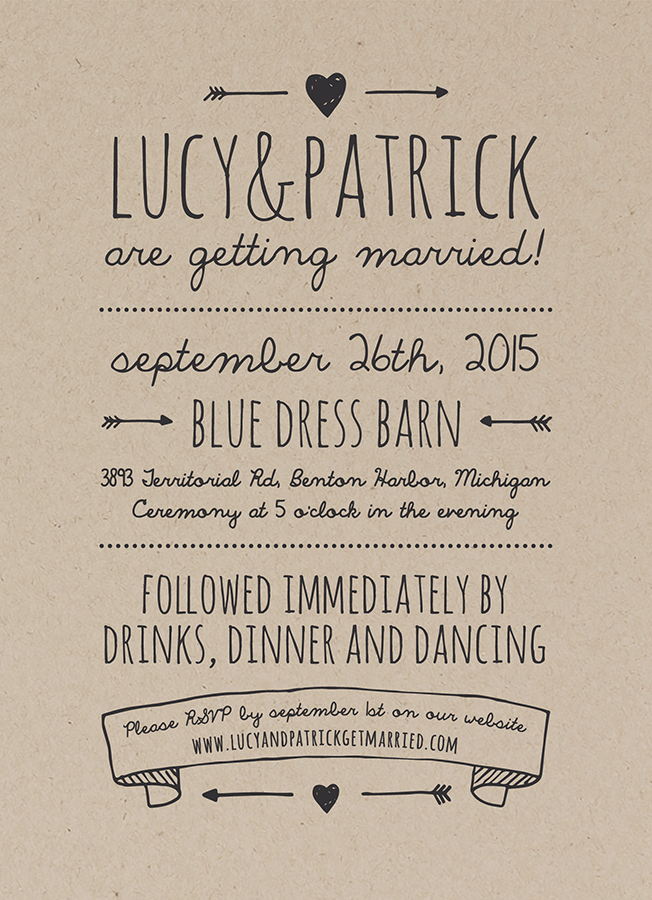 Rustic Invitation card by Postable on Postable.com wedding ...