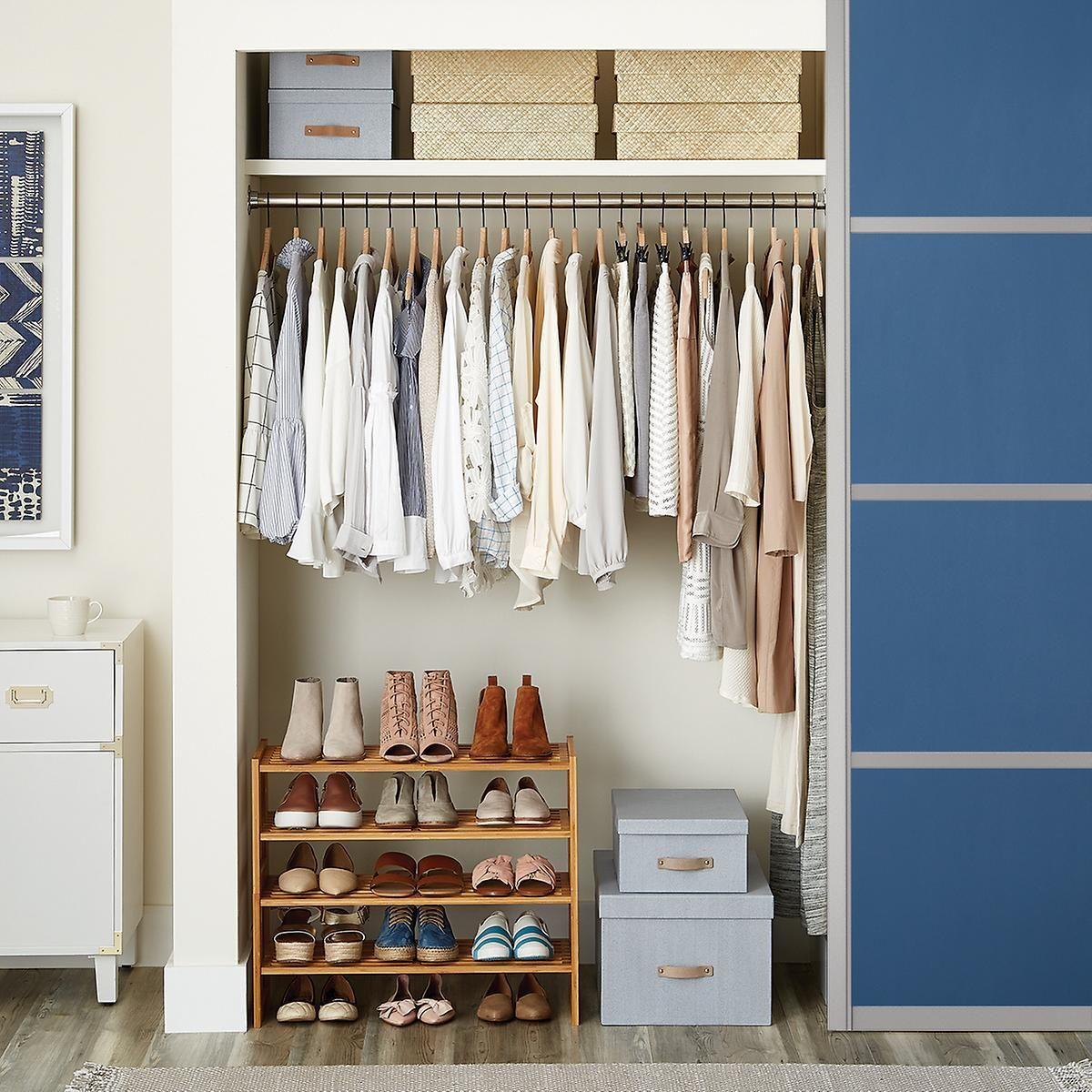 platinum elfa small space closet all of the pins shoe shelves rh pinterest com