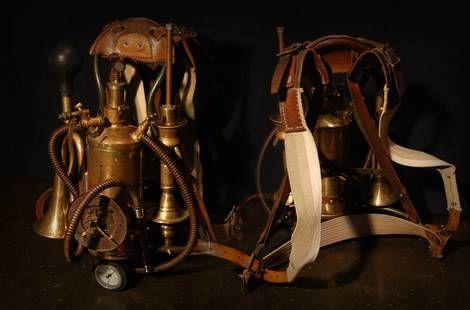 Steampunk back pack - Rückenträger für Timetraveller Outfit II - www.steampunker.de