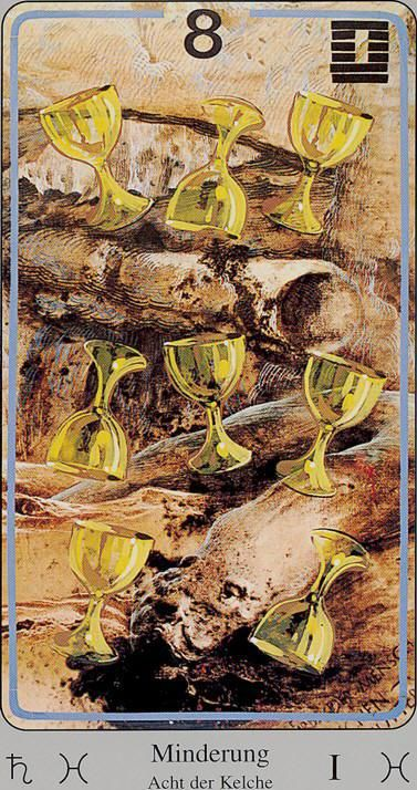 Image result for the haindl tarot 8 of cups