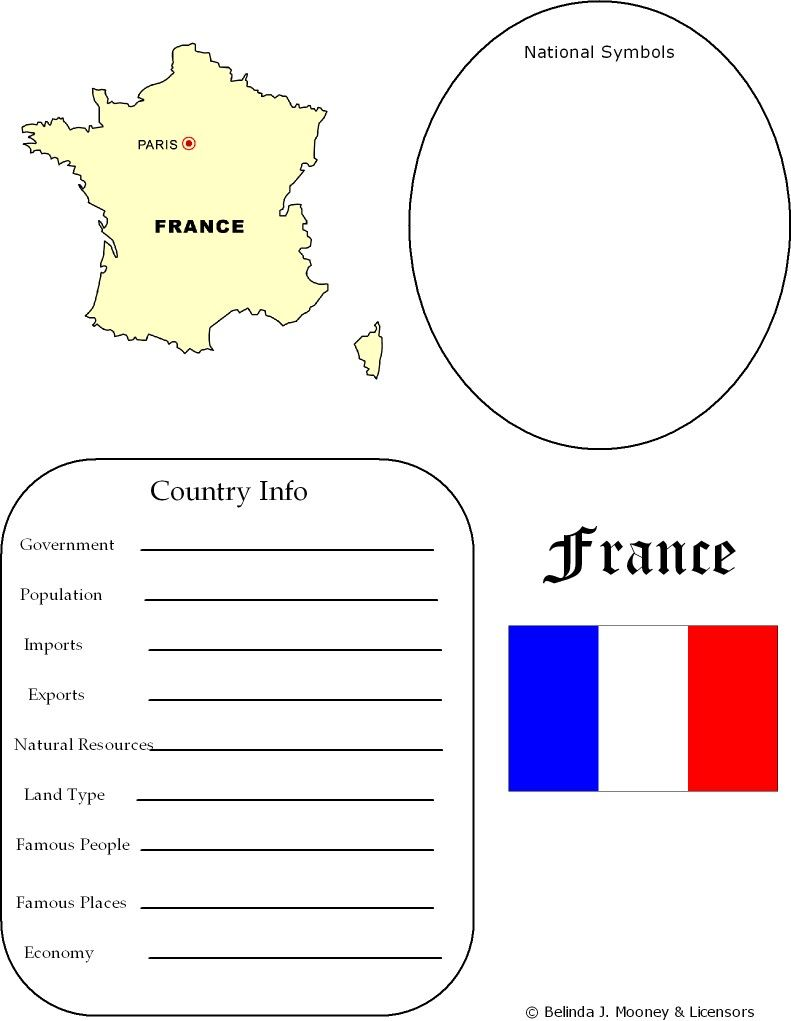 France Map Worksheet Geography Geography Pinterest