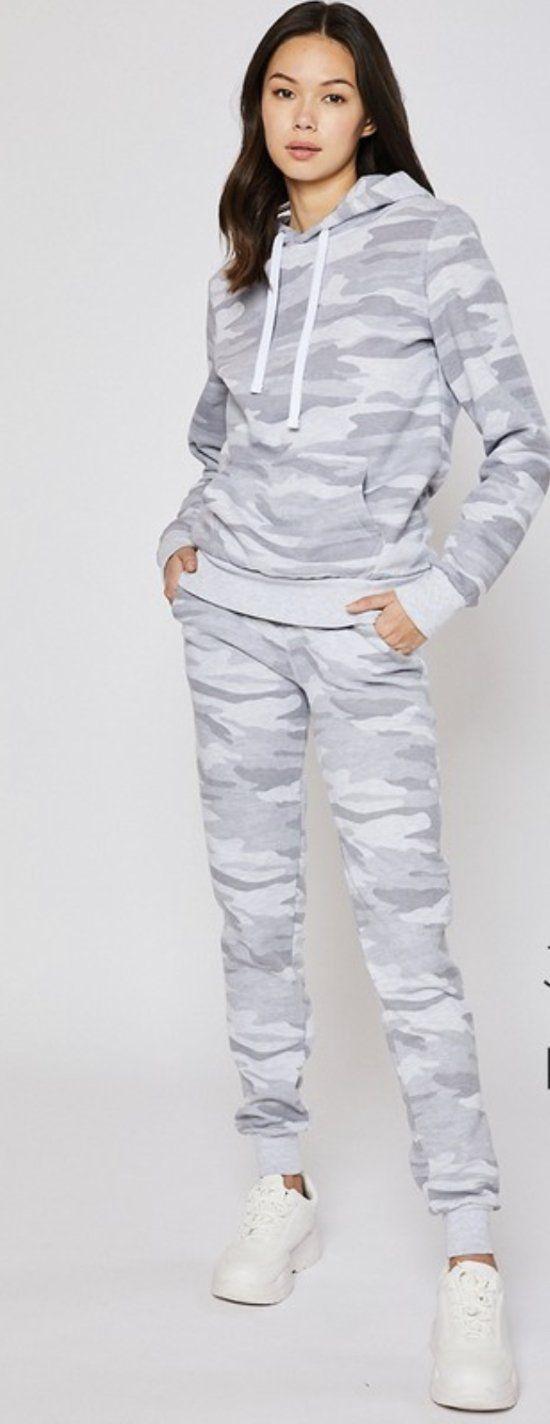 Light Grey Camo Hoodie - XL