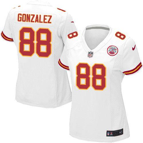 0b47917e0 ... 24.99 Nike Limited Tony Gonzalez White Womens Jersey - Kansas City  Chiefs 88 NFL Road ...