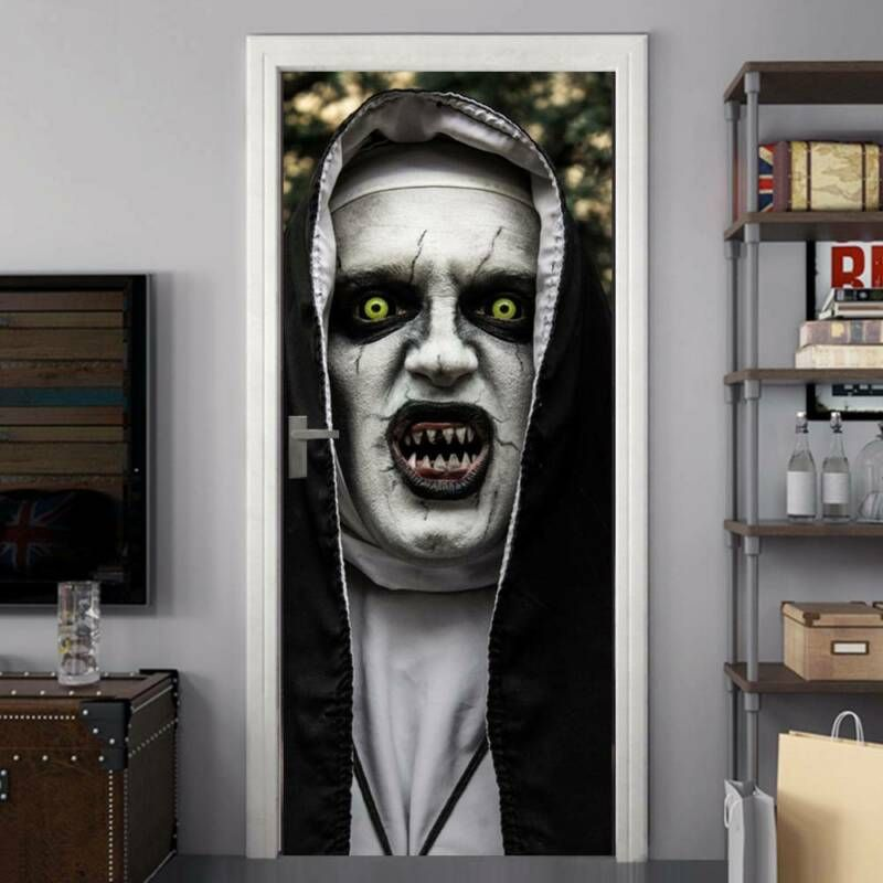 3D Ghost Door Sticker Wall Sticker Halloween Door Decal Horror Home Decoration