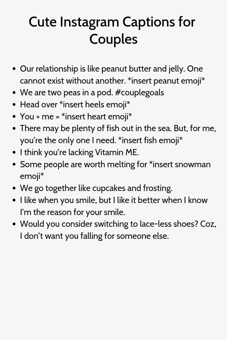 Cute Instagram Captions For Couples Cute Instagram Captions Captions For Couples Funny Instagram Captions