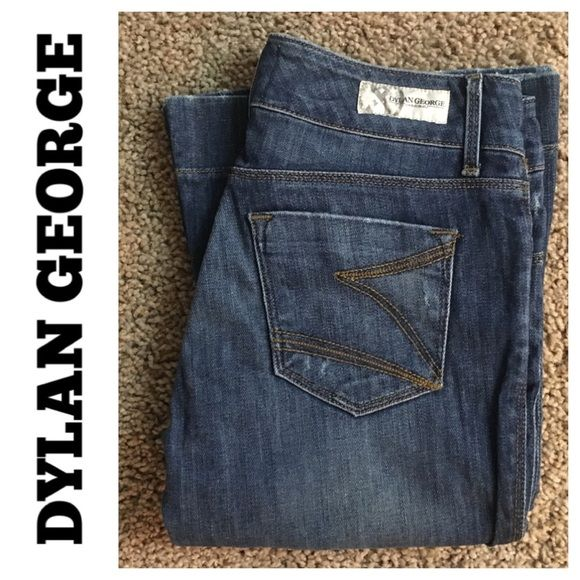 """Dylan George Diane flare leg jean size 25 Dylan George Diane flare leg wide hem jean size 25 inseam 34"""" and rise 7"""". Flare leg opening 10"""". Normal user wear and fade. Wear on hems. No tears holes or stains. Overall in good used condition Dylan George Jeans Flare & Wide Leg"""