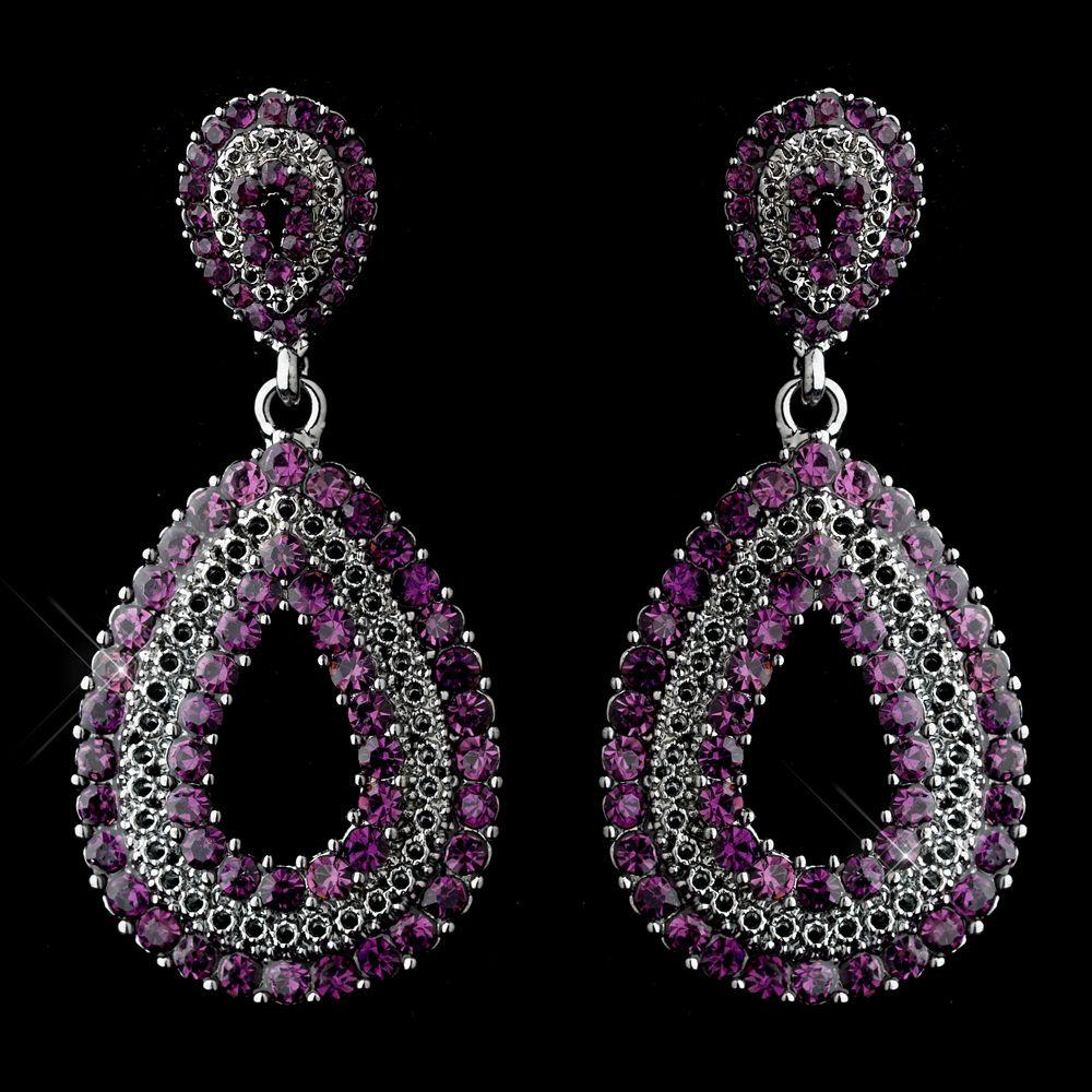 Amethyst Purple Crystal Prom Or Wedding