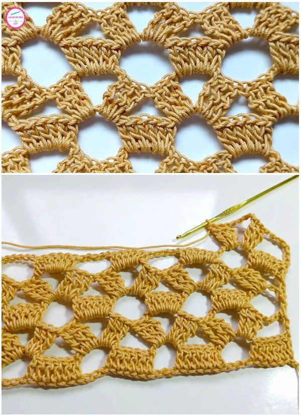 How to Easily Crochet Lace Stitch,  #Crochet #easily #FITNESS #Lace #Stitch