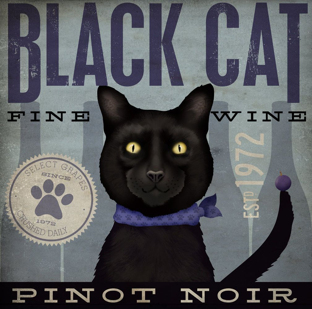 Love the look of this. Black Cat wine company original
