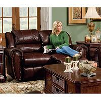 Lane Furniture Steve Double Reclining Top Grain Leather