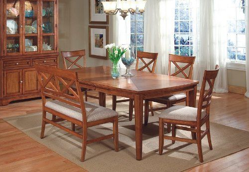 "6pcs ""X"" Cross Back Design Walnut Finish Dining Room Set by Coaster Home Furnishings. $1199.00. Some assembly may be required. Please see product details.. You will receive a total of a 1 dining table, 1 bench and 4 side chairs.. Dining Table: 60"" - 78""L x 42""W x 30""H Bench: 44""L 24""W 39""H Chair: 20""L x 24""W x 39""H Finish: Walnut Material: Hardwood and Fabric. 6 pieces Contemporary ""X"" Cross-back Design Dining Room Set . ""X"" Back design table set features a larg..."