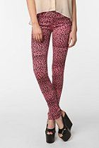 HAHA I had these in 8th grade only they were made by BUBBLEGUM JEANS... Tripp NYC Cheetah Skinny Jean  #UrbanOutfitters