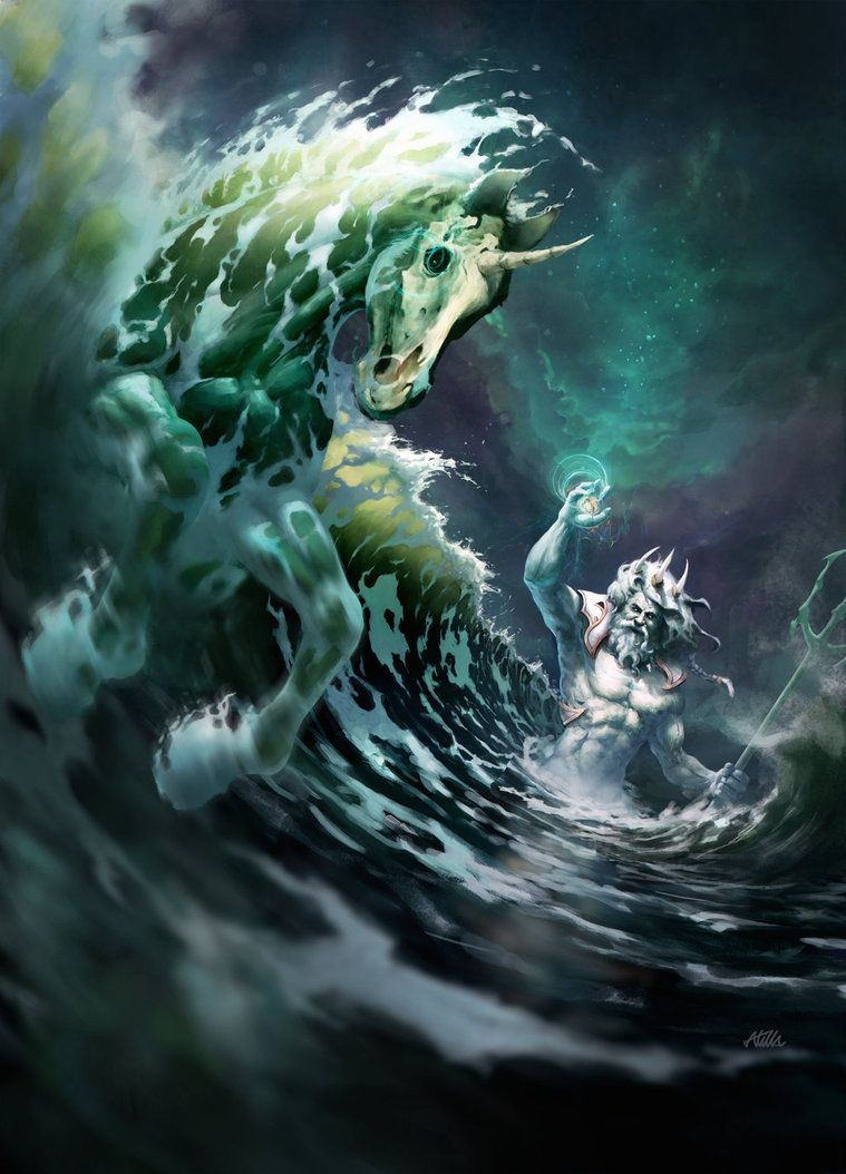 poseidon creation of the first horse by apocalypsetr