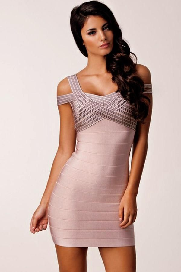 549577340fb Dark Pink Weave Illusion Top Sexy Bandage Dress