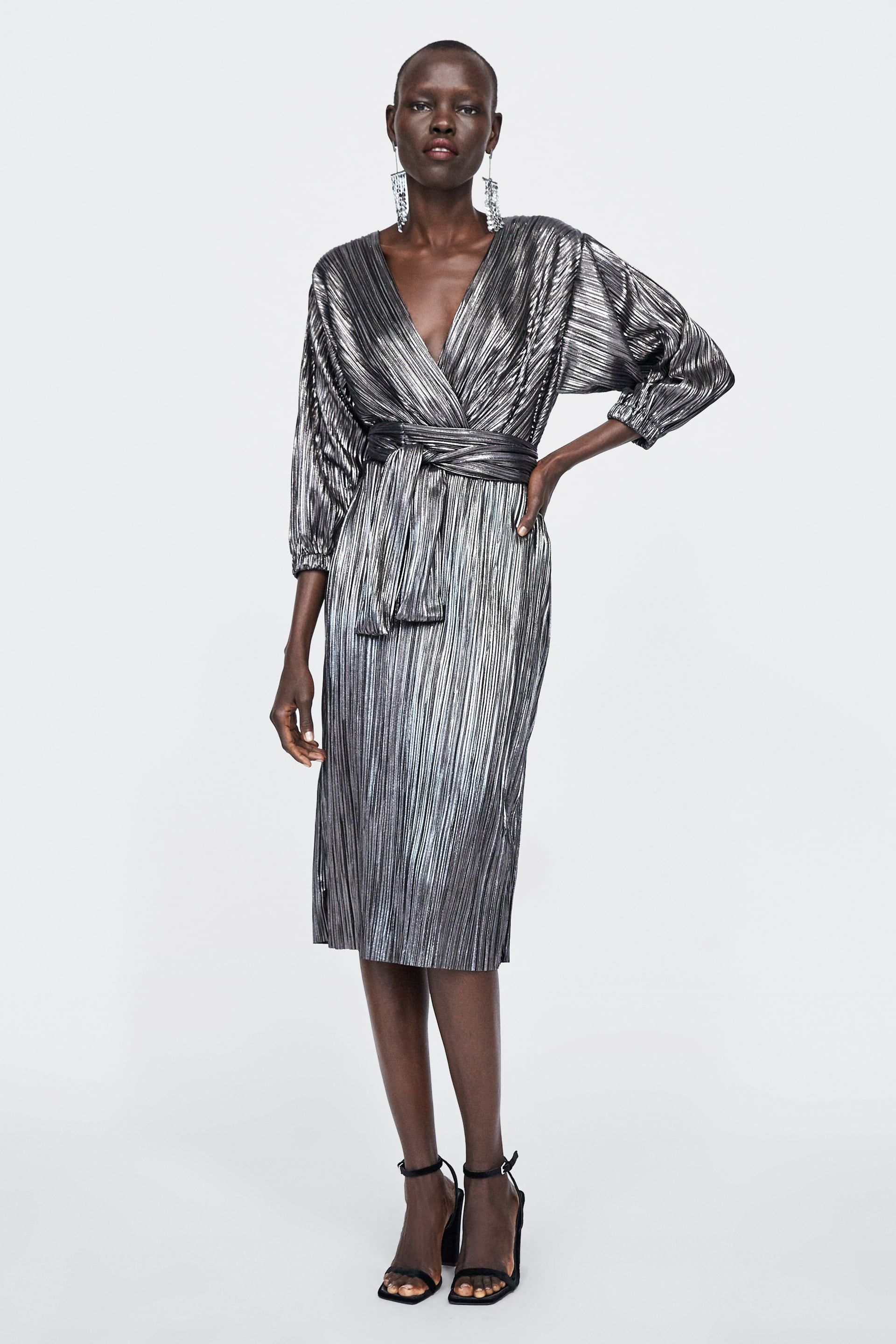 cad0eea19572 Image 1 of METALLIC DRESS from Zara | dress in 2019 | Dresses, Zara ...