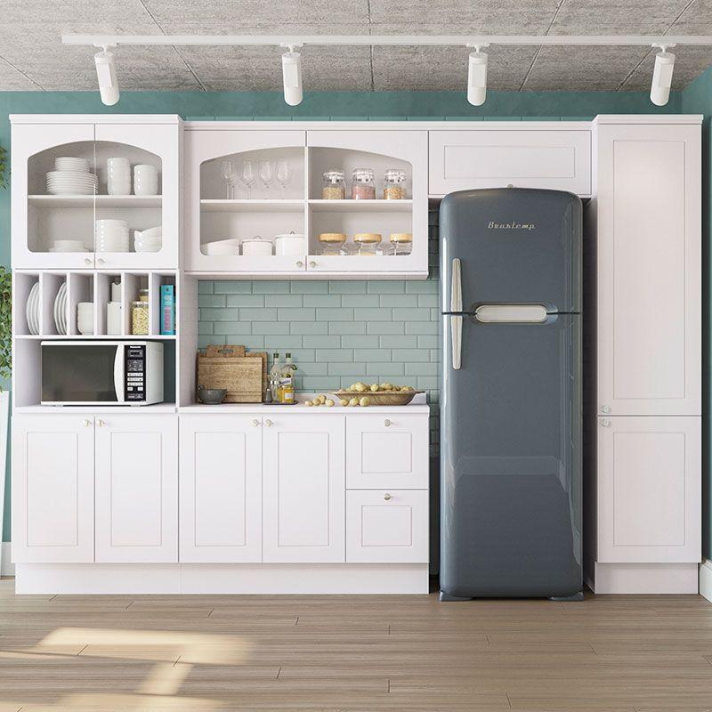 Cozinha Compacta Com Tampo 6 Pecas Provenzza Kappesberg Branco