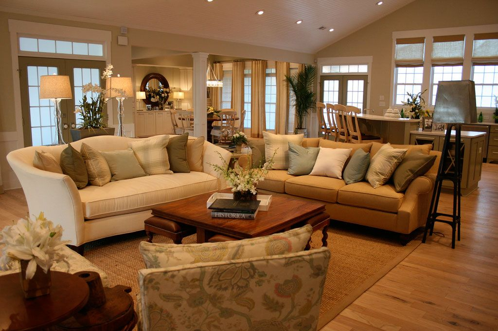 Open Living Space Traditional Semi Formal Living Room Decor