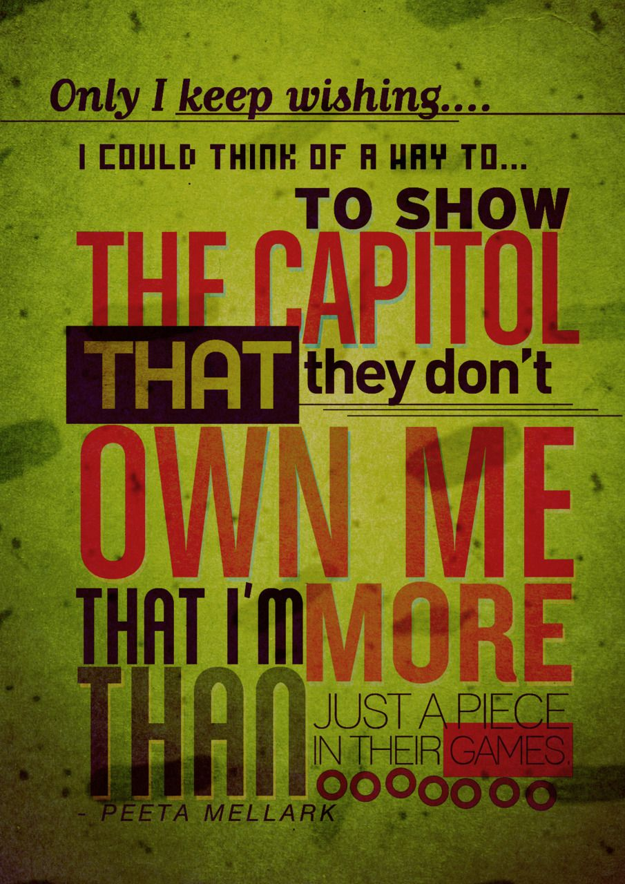 Quotes About Hunger Quotable Quotes From Hunger Gamessuzanne Collins  2012 And I