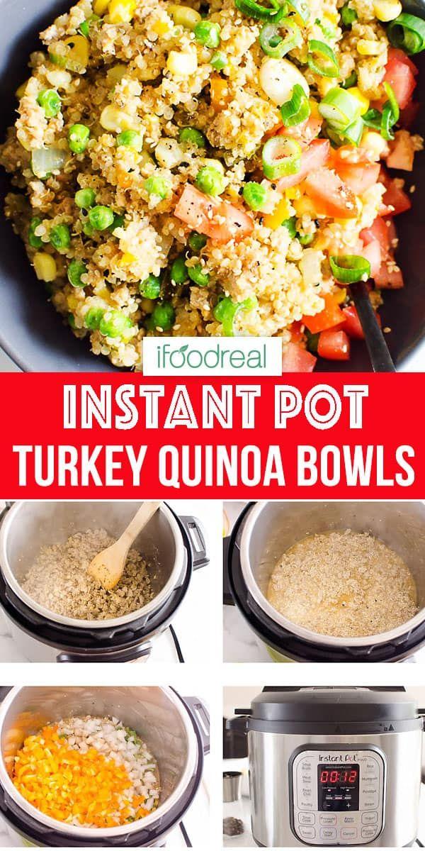 Instant Pot Ground Turkey Quinoa Bowls is healthy 30 ...