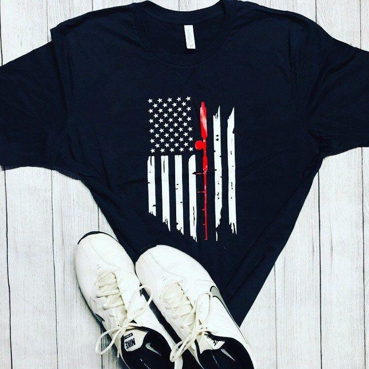 Download Mens Fishing flag shirt | American flag shirt mens, Flag ...