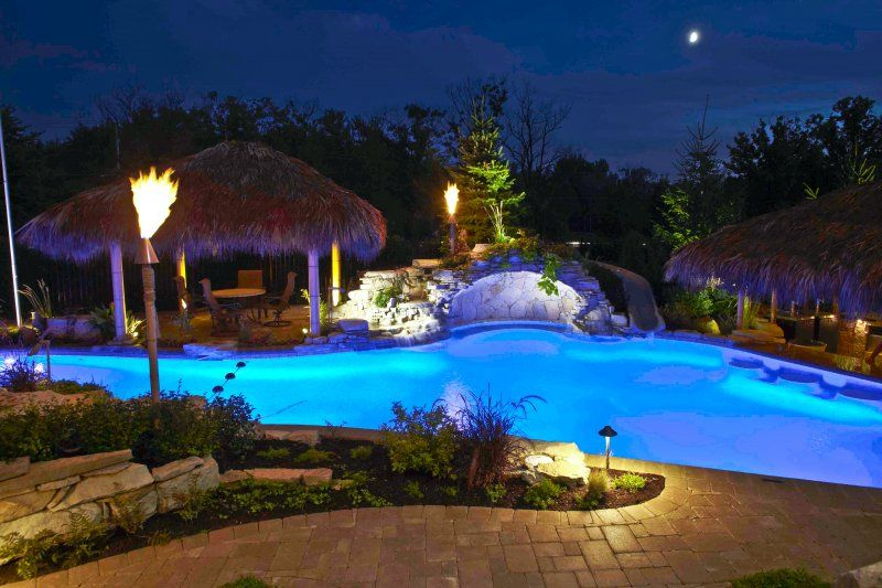 Pool Pond and Waterfall Lighting Outdoor Accents Lighting