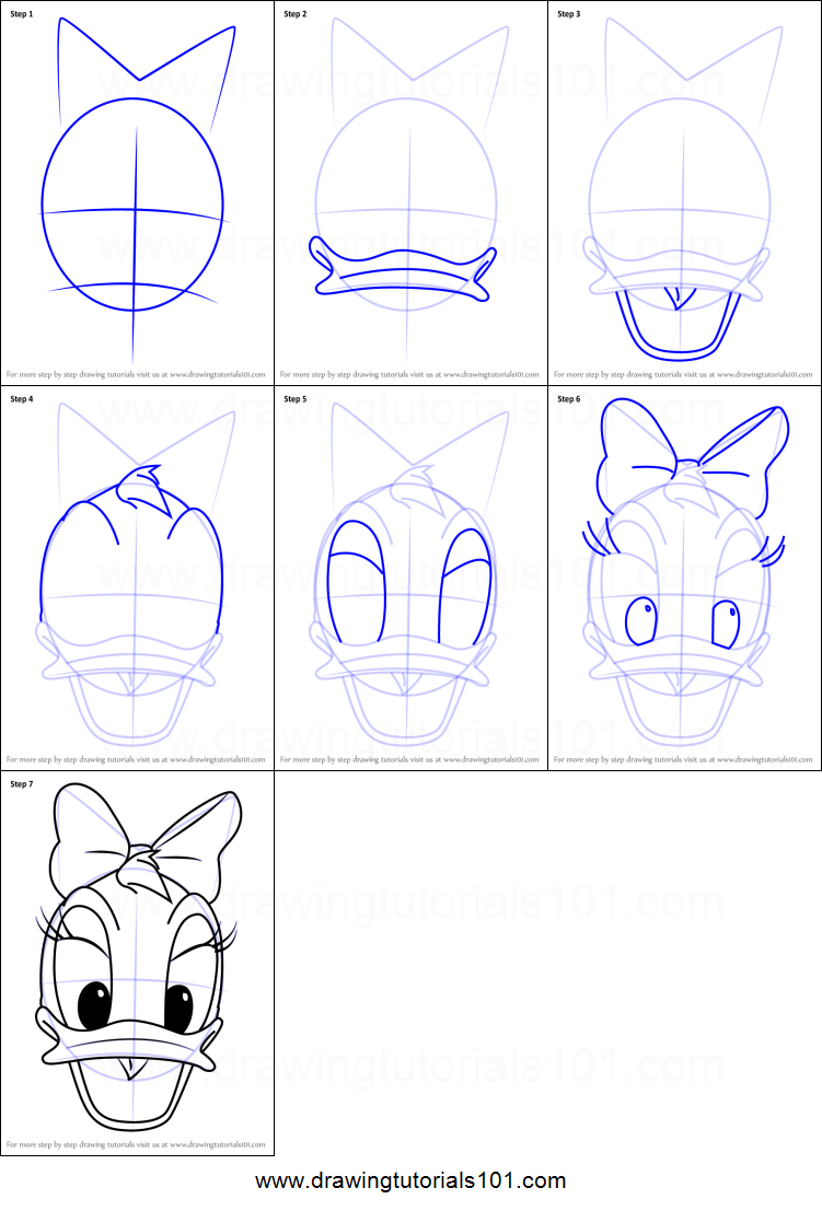 Ongekend How to Draw Daisy Duck Face from Mickey Mouse Clubhouse Printable QU-93