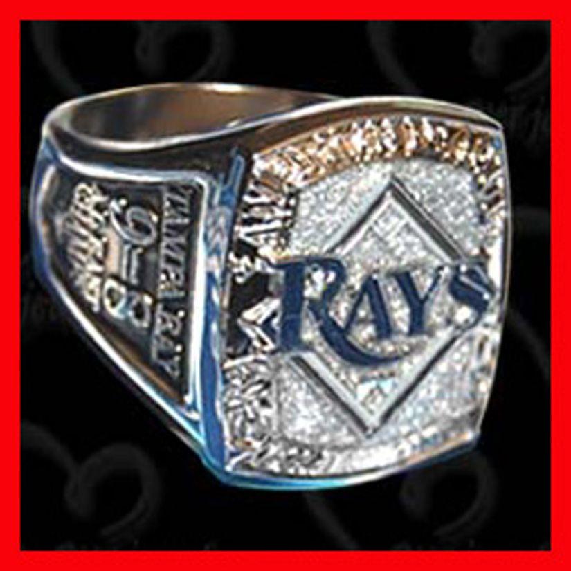 Byer Mlb Tampa Bay Rays 2008 Season American League Champions Commemorative Sga Ring Rings For Men Rings Championship Rings