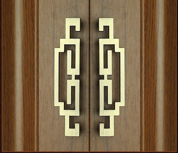 CBH HAPPINESS Chinese Character Brass Door Hardware 9.6 Antiques Door Plates & Backplates