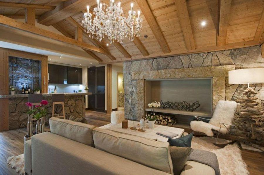 Arredare un open space cucina soggiorno rustico 07 | Interior ...