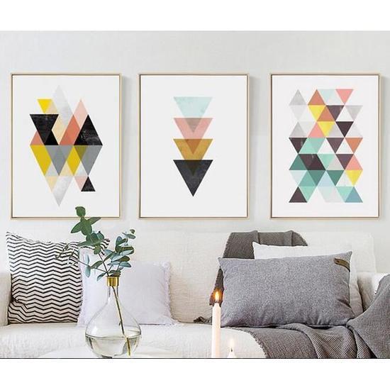 Nordique Geometrique Affiche Impression Scandinave Toile Peinture Pour Salon Mur Art Photos Moderne Decor A La Maison Sans Cadre Tableau Deco Salon Cadre Deco Salon Peinture Salon