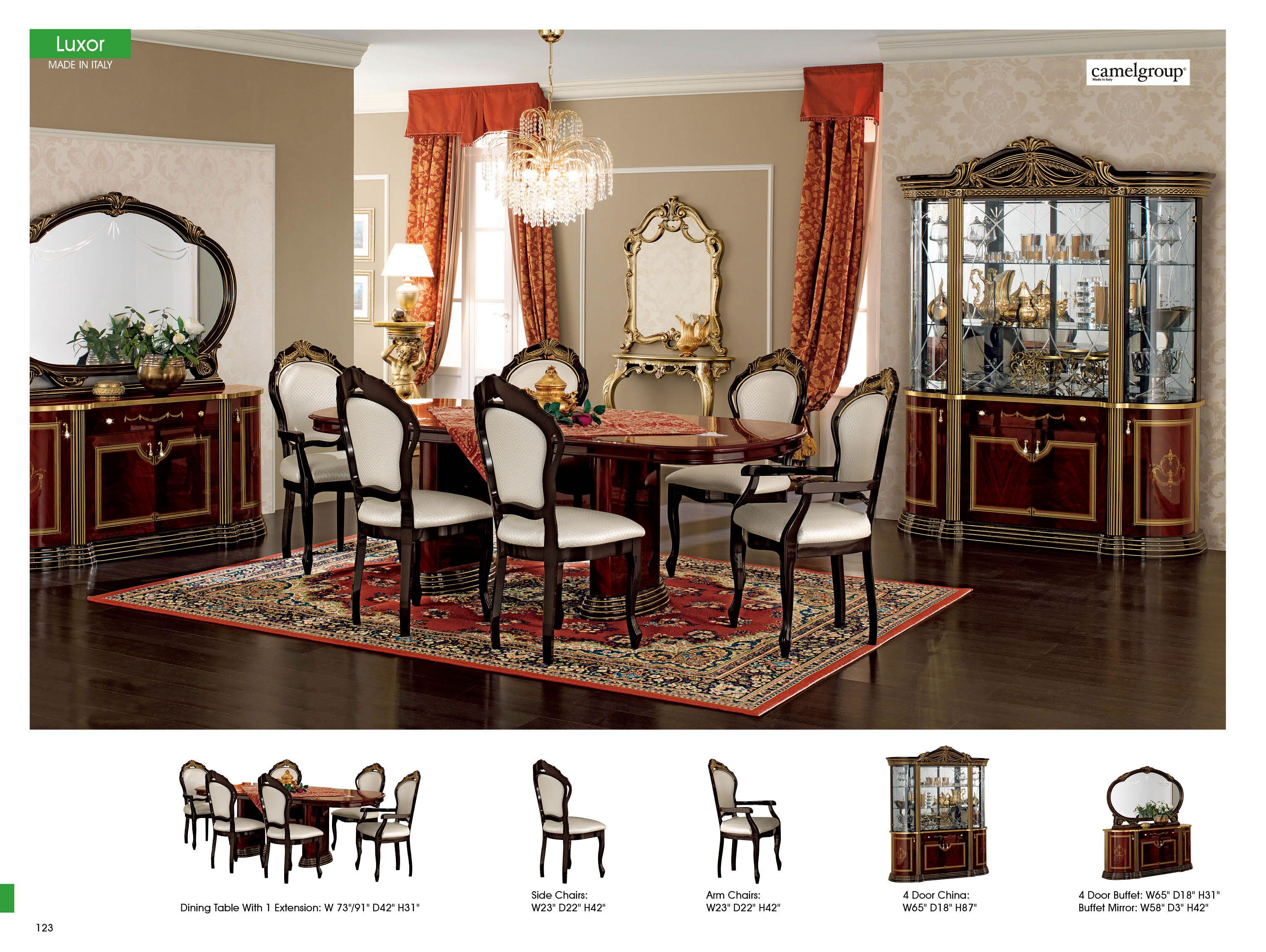 Dining Room Furniture Classic Dining Sets Luxor Day Mahogany Captivating Ivory Dining Room Set Inspiration Design